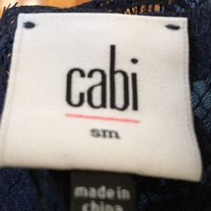 CAbi Tops - CAbi Navy Lace coverup with Tunic